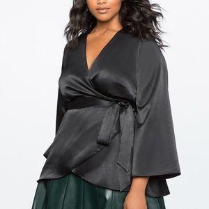 Eloquii Silk Kimono Wrap Top